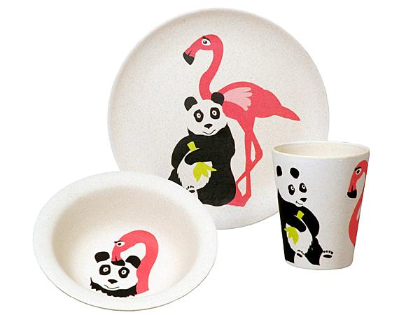 Zuperzozial Hungry Flamingo kids set